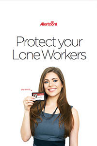 Brochure Cover with the title 'Protect your Lone Workers' and our logo